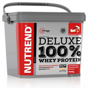 Nutrend DELUXE 100 Whey Protein 4000 g Jahodový cheescake