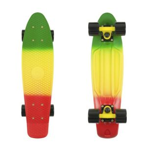 "Penny board Fish Classic 3Colors 22"" Barva Green+Yellow+Red-Black-Black"